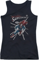 DC Comics juniors tank top Superman Cover Me black