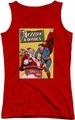DC Comics juniors tank top Superman Cover No. 105 red