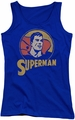 DC Comics juniors tank top Superman Super Circle royal
