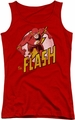DC Comics juniors tank top The Flash red