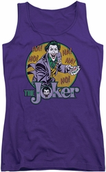 DC Comics juniors tank top The Joker purple