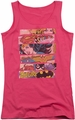 DC Comics juniors tank top Three Of A Kind hot pink
