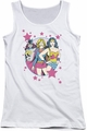 DC Comics juniors tank top We Are Superior white