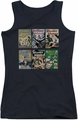 DC Comics juniors tank top Wonder Woman Covers black