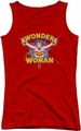DC Comics juniors tank top Wonder Woman Flying Through red
