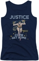 DC Comics juniors tank top Wonder Woman Get Some navy