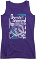 DC Comics juniors tank top Wonder Woman Human Shield purple