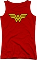 DC Comics juniors tank top Wonder Woman Logo red