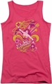 DC Comics juniors tank top Wonder Woman Save Me hot pink