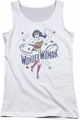 DC Comics juniors tank top Wonder Woman Stars white