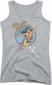 DC Comics juniors tank top Wonder Woman Vintage athletic heather