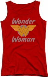 DC Comics juniors tank top Wonder Woman Wings red