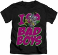 DC Comics kids t-shirt I Heart Bad Boys black