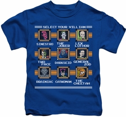 DC Comics kids t-shirt Stage Select royal