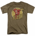 The Flash t-shirt Flashy mens safari green
