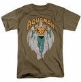 Aquaman t-shirt From The Depths mens safari green