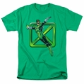 Green Lantern t-shirt Green Cross mens kelly green