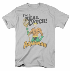 Aquaman t-shirt Real Catch mens silver