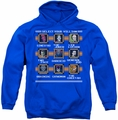 DC Comics pull-over hoodie Stage Select adult royal blue