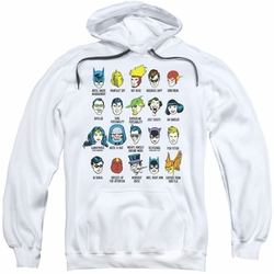 DC Comics pull-over hoodie Superhero Issues adult white