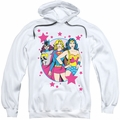 DC Comics pull-over hoodie We Are Superior adult white
