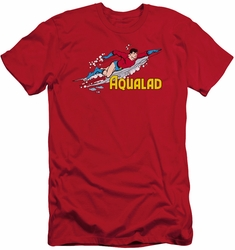 DC Comics slim-fit t-shirt Aqualad mens red