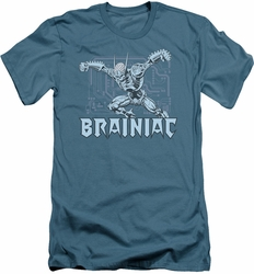 DC Comics slim-fit t-shirt Brainiac mens slate