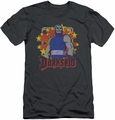 DC Comics slim-fit t-shirt Darkseid Stars mens charcoal