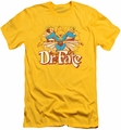 DC Comics slim-fit t-shirt Dr Fate Stars mens yellow
