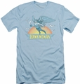 DC Comics slim-fit t-shirt Hawkwoman mens light blue