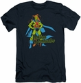 DC Comics slim-fit t-shirt Martian Manhunter mens navy