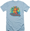 DC Comics slim-fit t-shirt Red Tornado Stars mens light blue