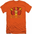 DC Comics slim-fit t-shirt Ring Of Firestorm mens orange