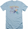 DC Comics slim-fit t-shirt Super Friends mens light blue