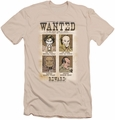 DC Comics slim-fit t-shirt Wanted Poster mens cream