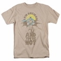 Batman t-shirt I am and You're Not mens sand