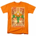Aquaman t-shirt mens orange Sheldon
