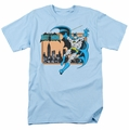Batman t-shirt Batman In The City mens light blue