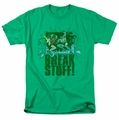 Batman Robin t-shirt Break Stuff mens kelly green