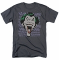 Joker t-shirt Dastardly Merriment mens charcoal
