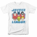 DC Comics t-shirt Faces Of Justice mens white