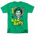 The Joker t-shirt I Heart Bad Boys 2 mens kelly green