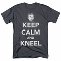 DC Comics t-shirt Keep Calm And Kneel mens charcoal