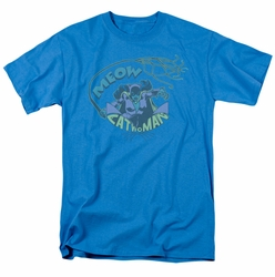 DC Comics t-shirt Meow Catwoman mens turquoise