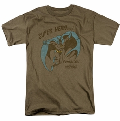Batman t-shirt No Powers mens safari green