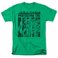 DC Comics t-shirt Protecting The Earth mens kelly green