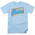 DC Comics t-shirt Supermobile mens light blue