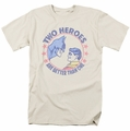 Batman Robin t-shirt Two Heroes mens cream