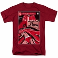 Batman t-shirt Wanted Bat mens cardinal