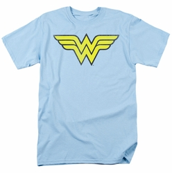 DC Comics t-shirt Wonder Woman Logo Distressed mens light blue